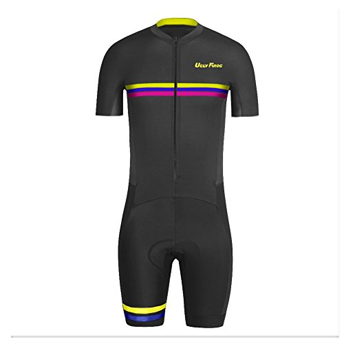 UGLYFROG ROPA MANGA CORTA HOMBRE MAILLOTS CICLISMO SKINSUIT WITH GEL PAD TRIATLON CLOTHES HDLT11