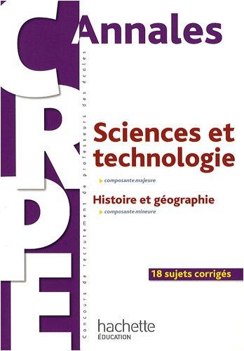 Sciences et technologie, composante majeure : Histoire et géographie, composante mineure