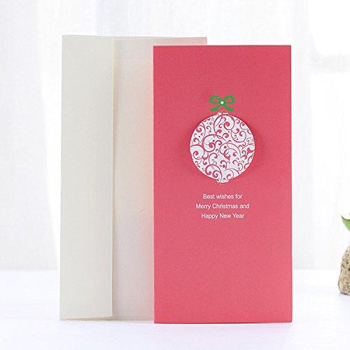 Tutoy Weihnachtsgrußkarte Weihnachtsgeschenke Party Grußkarte Stereo Karte Mit Pack Umschlagkarte-6 Pack Onesies