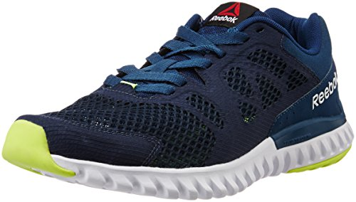 Reebok Men's Twistform Blaze 2.0 Mtm Blue, Navy, White and Yellow Running Shoes