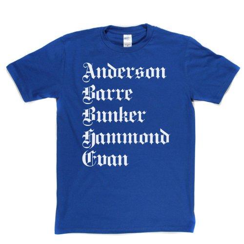 Anderson Barre Bunker Hammond Evan Music T-shirt Königsblau