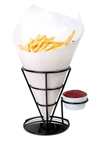 Französisch Fry Halter Pommes Frites Chip Konus Halterung Rack mit Speisewürze Ständer