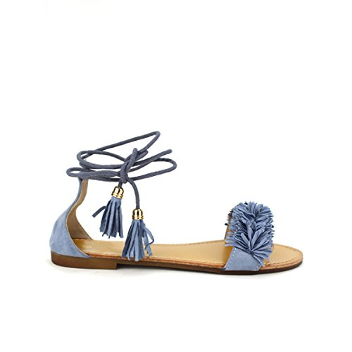 Cendriyon, Sandale blue jean BO'AIME Chaussures Femme Bleu