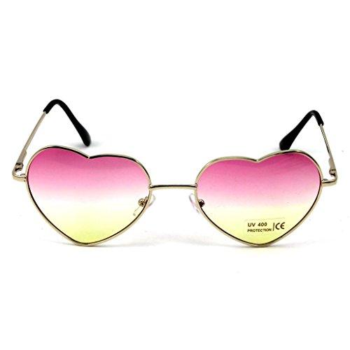 HuntGold 1 × Große Übergröße Damen Herz Form Sonnenbrille Modisch Niedlich Brille Sport- und Skibrillen (rosa)