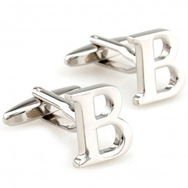 Gemelos letras alfabeto A Z inicial nombre, acero