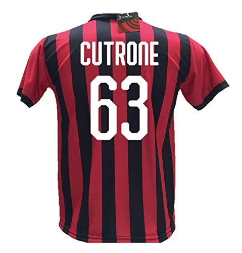 Camiseta fútbol Cutrone 63 Milan réplica autorizada