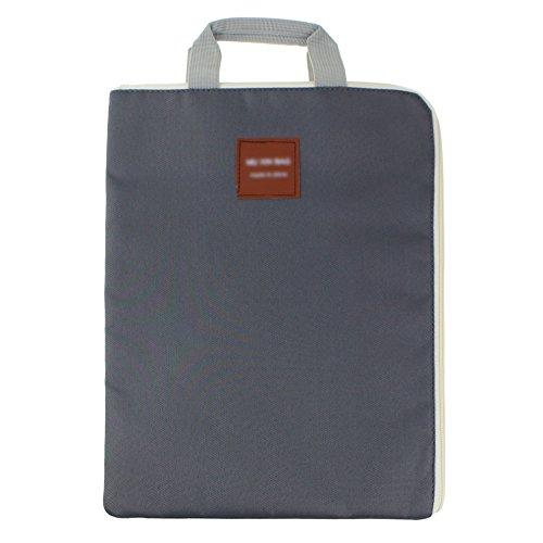 A4Dokument Veranstalter Tasche Tote Halterung iPad Laptop Tasche wasserdicht Reißverschluss Oxford Tuch Datei Tasche für Männer Frauen dunkelgrau (Tuch, Ipad Tasche)