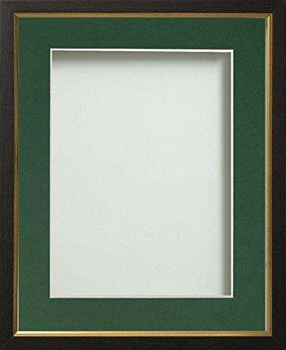 Frame Company Drayton Range Bilderrahmen Gold Einsatz, plastik, schwarz, 6x4-inch mounted for 5x3-inch image (3x4 Bilderrahmen)