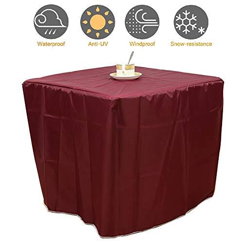 PENGFEI Gartenmöbel Abdeckung Abdeckplane Schutzhülle Gartentisch Terrasse Tisch Und Stuhl Wasserdicht Staubdicht UV-Schutz, Mehrere Größen (Color : Brown, Size : 140x140x100cm) -