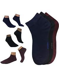 Calcetines cortos hombre mujer de bambu negros Amadeos Ecologicos