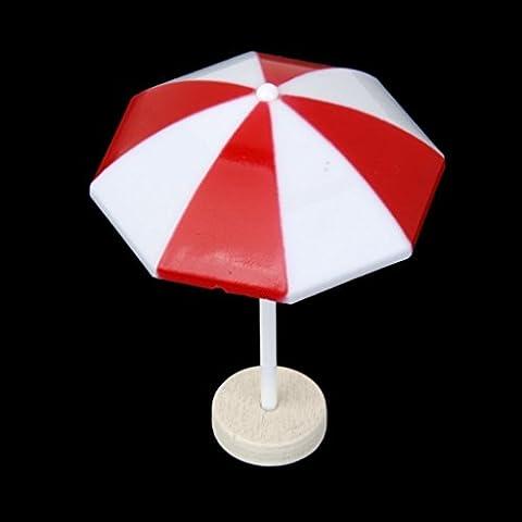 VORCOOL Spiaggia ombrellone in miniatura paesaggio Bonsai Dollhouse Decor (rosso)