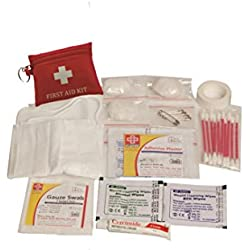 TRAVEL FIRST AID KIT SMALL - ST JOHNS FIRST AID - POUCH - 23 COMPONENTS SJF T1