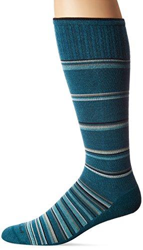 Cushion Crew Socke Arbeit (SOCKWELL Herren Konzentrischer Stripe Abgestufte Kompression socks-ideal für travel-sports-prolonged sitting-standing & reduziert Schwellungen, Herren, blaugrün)