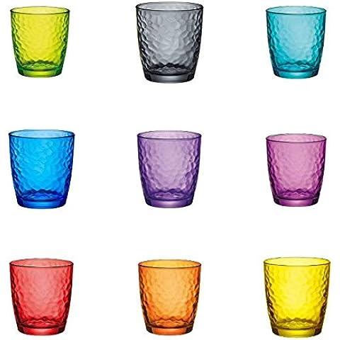Excelsa Palatina Bicchiere Acqua 32 cl, Vetro, Verde, 8 x 8 x 9 cm