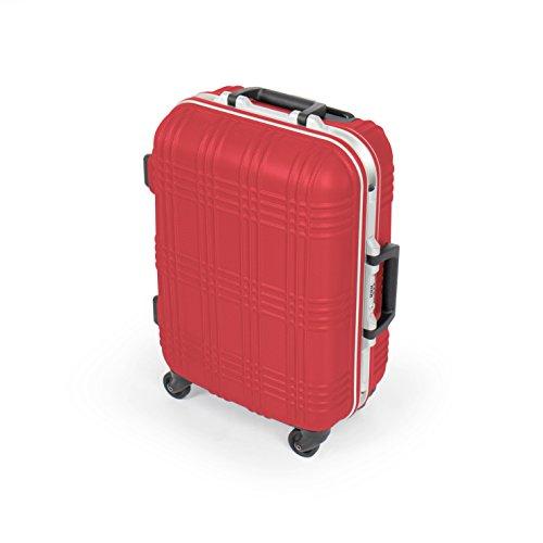 MasterGear rigida mano valigia bagagli   4 ruote (360 gradi), carrello, valigie, ABS, TSA, impilabili, per numerose compagnie aeree idonee   rosso