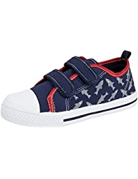Kids Boys Canvas Pumps Toddlers Beach Summer Shoes Hook and Loop Trainers Size UK 4-12