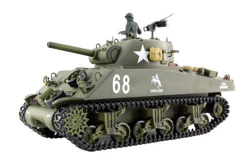 XCiteRC 35514000 rC radio commandée à carapace modellpanzer u.s. m4A3 sherman-ready to sound race and smoke, échelle 1:16, vert