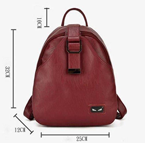 Neue Damen PU-Umhängetasche Mode Lässig Schultasche Handtasche Black