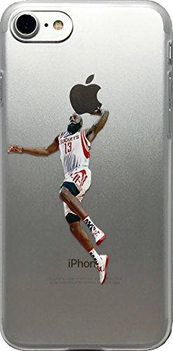 e150fb6fd06ed ECHC Fulfillment Soft TPU Basketball Case Your Favorite Past Present  Players (Harden Dunk, iPhone 7 8)