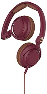 Skullcandy S5LWGY-414 Lowrider On-Ear Headphone with Mic (Maroon/Coper)
