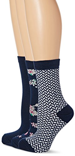 lovestruck-womens-3pk-vanilla-floral-casual-socks-blue-one-size-manufacturer-size4-7