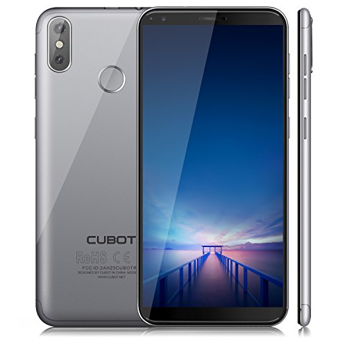 Cubot R11 (2018) Android 8.1 Oreo Dual Sim Smartphone ohne Vertrag, 5.5 Zoll (18:9) IPS HD+ Touch Display, 2GB Ram+16GB interner Speicher, 13MP+2.0MP Hauptkamera / 8MP Frontkamera, Quad-Core Prozessor, 1.3GHz, 0.1s FingerprintSensor, Benachrichtigungs-LED (Grün+Rot), 2.5D gebogener Bildschirm, nutzbares GPS, Wi-fi 2.4G, Bluetooth 4.0, Grau
