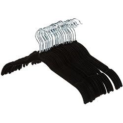 AmazonBasics Lot de 30 cintres en velours pour chemises/robes Noir