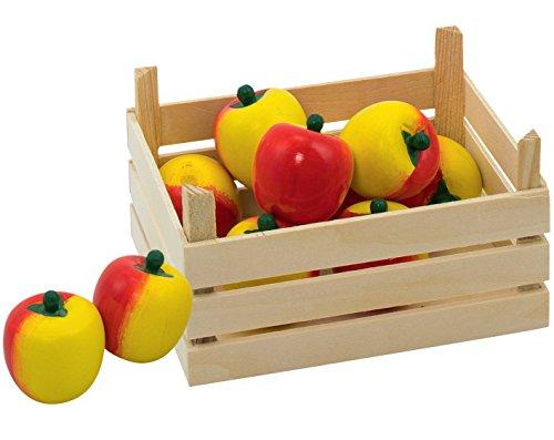 mit Holz-Äpfeln für Kaufmannsladen Holzküche Kinder-Küche Holzspielzeug von goki mit Palandi® Sticker (Apfel Für Kinder)