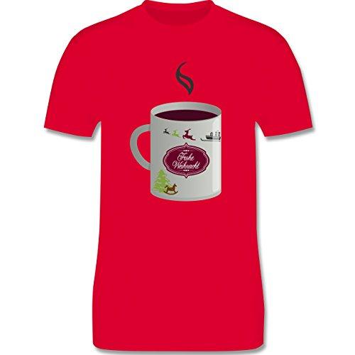 Weihnachten & Silvester - Glühwein Frohe Weihnachten - Herren Premium T-Shirt Rot