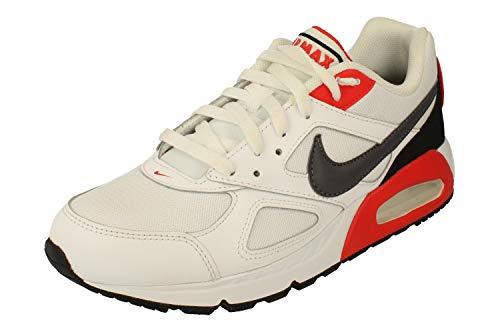 Nike Air Max Ivo Herren Running Trainers CD1540 Sneakers Schuhe (44 EU, White Dark Grey Habanero Red 100)
