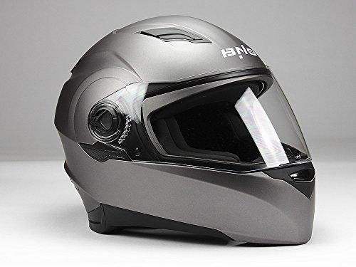 Integralhelm Motorradhelm Helm BNO F06T Matt Anthrazit TitaniumGröße S -XL (M (57-58))