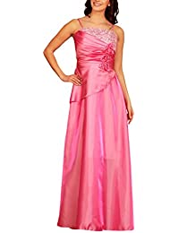 c527cf237f Womens Elegant Pleated Wrap Evening Dress Flowers Tapework Taffeta Formal  Ball Gowns Dresses Ladies