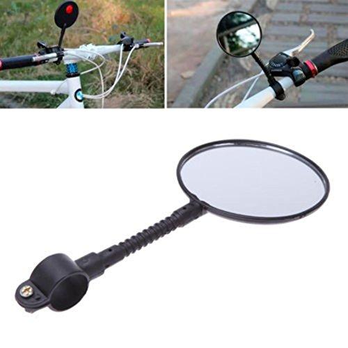 HCFKJ Qualität Fahrrad Lenker Flexible Rückansicht Rückspiegel Schwarz