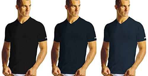 3 maglie t-shirt uomo cotone NAVIGARE plus scollo a punta art. 512 taglie 2f58abbba0dd