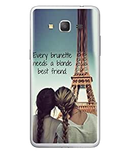PrintVisa Designer Back Case Cover for Samsung Galaxy Grand 3 :: Samsung Galaxy Grand Max G720F (Woman Light Nature Love Wallpaper Text)