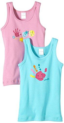 Schiesser Mädchen Unterhemd 2pack Hemd 0/0, Mehrfarbig (Sortiert 1 901), 98 (Herstellergröße: 098) -