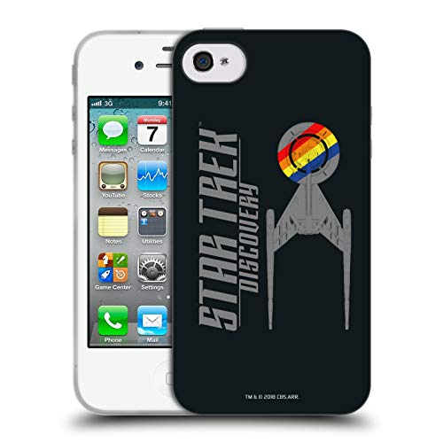 Head Case Designs Offizielle Star Trek Discovery Stolz U.S.S Discovery NCC - 1031 Soft Gel Huelle kompatibel mit iPhone 4 / iPhone 4S