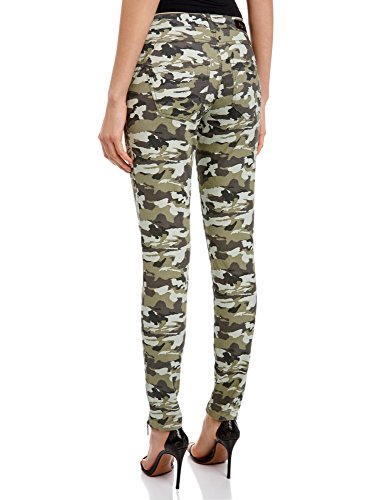 oodji Ultra Donna Pantaloni Militari con Zip Decorative Verde (6025O)
