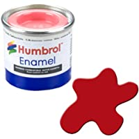 Humbrol AA1660 - Pintura de Esmalte, Rojo (153 Insignia Red Matt)