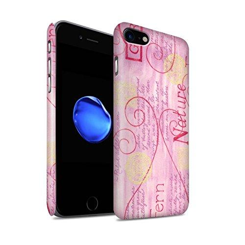 STUFF4 Matte Snap-On Hülle / Case für Apple iPhone 8 / Gelb Muster / Muster Natur Kollektion Rosa / Gelb