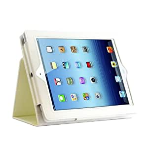 Kolay Leather Flip Case Cover with Stand for iPad - - blanco iPad 2