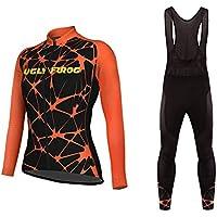 Uglyfrog Bike Wear Lady Thermo Maillot para Mujer+Bib Pantalones con Gel 3D MESQXFNC06