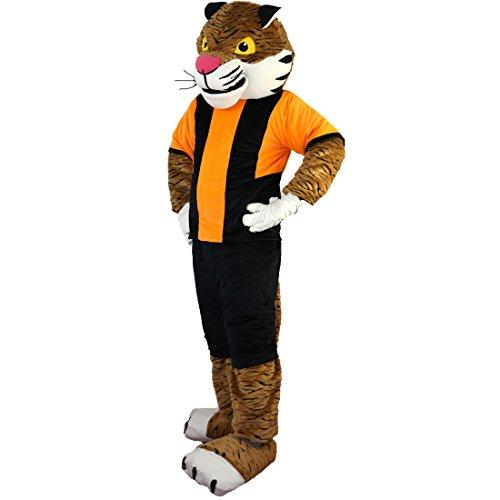 Langteng Sport Tiger Cartoon Maskottchen Kostüm Echt Bild 15-20Tage Marke (Tiger Maskottchen Kostüm)