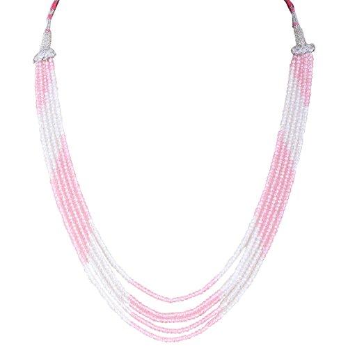 Be You Rosa Bianco zircone colore 5 Linee figura rotonda sfaccettato borda ombreggiato (Commercio All'ingrosso 5 Stringhe)