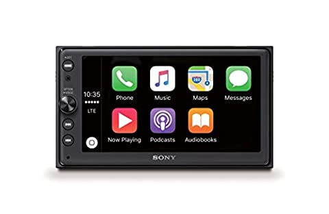 Sony XAV-AX100 16,3 cm (6,4 Zoll) Media Receiver (mit Bluetooth, Apple CarPlay und Android Auto, Navigation, Spotify, 2 DIN Autoradio)
