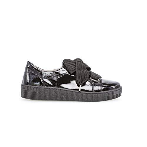 Gabor Shoes Baskets Plat pour Femme Comfort, Confortable en Cuir, modèle 93.331/97