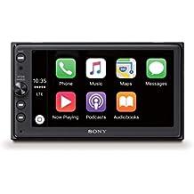 "Sony XAVAX100.EUR - Receptor multimedia (Android Auto, Bluetooth, Apple CarPlay, sonido DSO, pantalla táctil de 6.4"", 4 salidas de 55 W) negro"