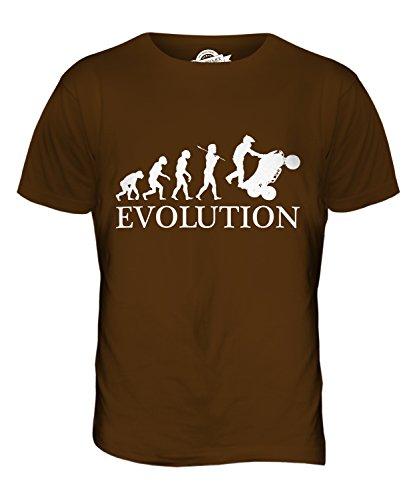CandyMix Atv Quad Evoluzione Umana T-Shirt da Uomo Maglietta Marrone