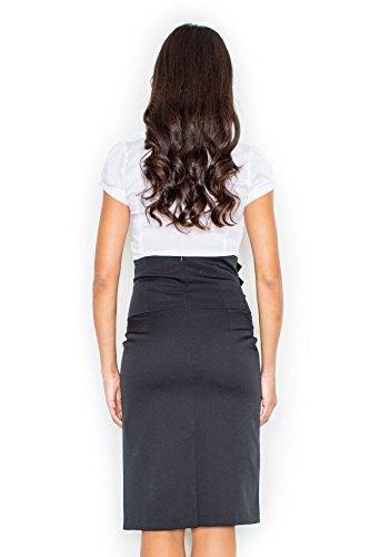 Figl Damen Abendrock mit Knöpfen, Größe 40, Schwarz -
