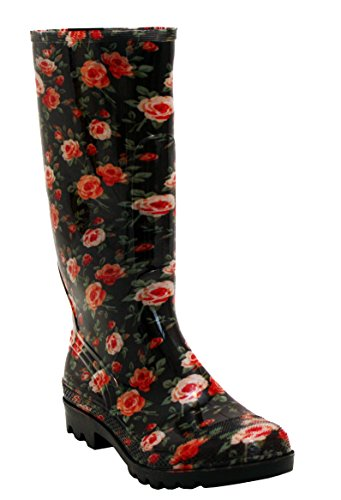 A&H Footwear Ladies Womens New Waterproof Rubber Festival Rain Mud Snow Girls Wellington Boots Wellies Sizes UK 3-8